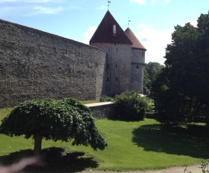 A small portion of the city walls of Tallinn.
