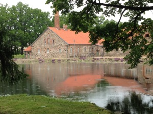 In summer, 2015, I attended the Viljandi Craft Camp, in Olustvere, Estonia. This is a picture of an 18th century distillery, where the silversmithing classes were held.