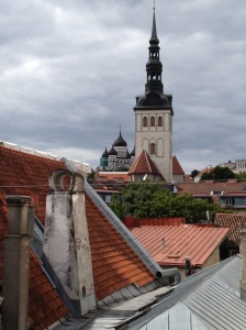 Tallinn, the capital of Estonia, is Europe's best preserved medieval city. This is the view out the window of the hotel I stayed in in Tallinn.